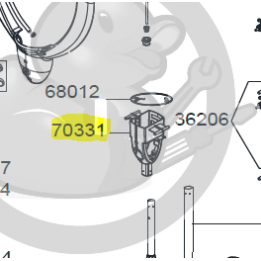 Support aluminiun parasol Sunforce, 70331