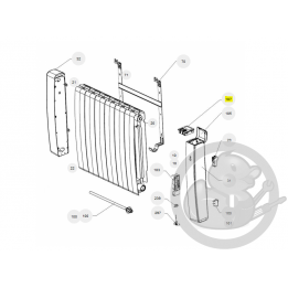 Boitier commande digital gris I2G prog 31 radiateur Atlantic Thermor 088161