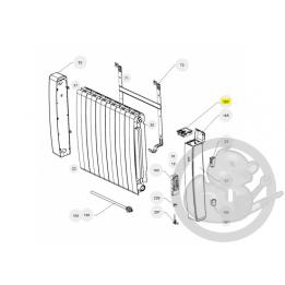 Boitier commande digital gris I2G prog 30 radiateur Atlantic Thermor 088160