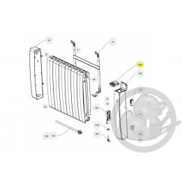 Boitier commande digital gris I2G prog 29 radiateur Atlantic Thermor 088159