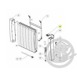 Boitier commande digital gris I2G prog 33 radiateur Atlantic Thermor 088163