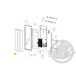 Façade + film chauffant oniris PI V 2000W radiateur Atlantic Thermor 097596