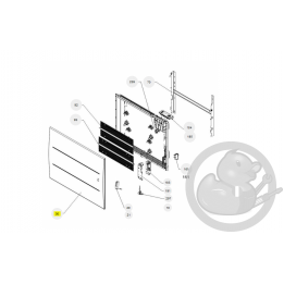 Façade oniris H 2000W anthracite radiateur Atlantic Thermor 097683