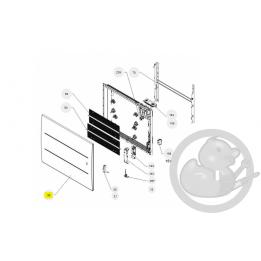 Façade oniris H 1000W anthracite radiateur Atlantic Thermor 097680