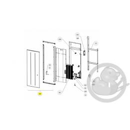 Façade oniris V 2000W anthracite radiateur Atlantic Thermor 097686