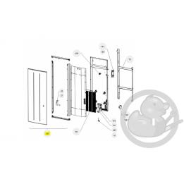Façade oniris V 1000W anthracite radiateur Atlantic Thermor 097684