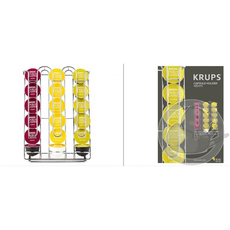 Porte capsules x18 dolce gusto krups coin pi ces - Porte capsule dolce gusto mural ...