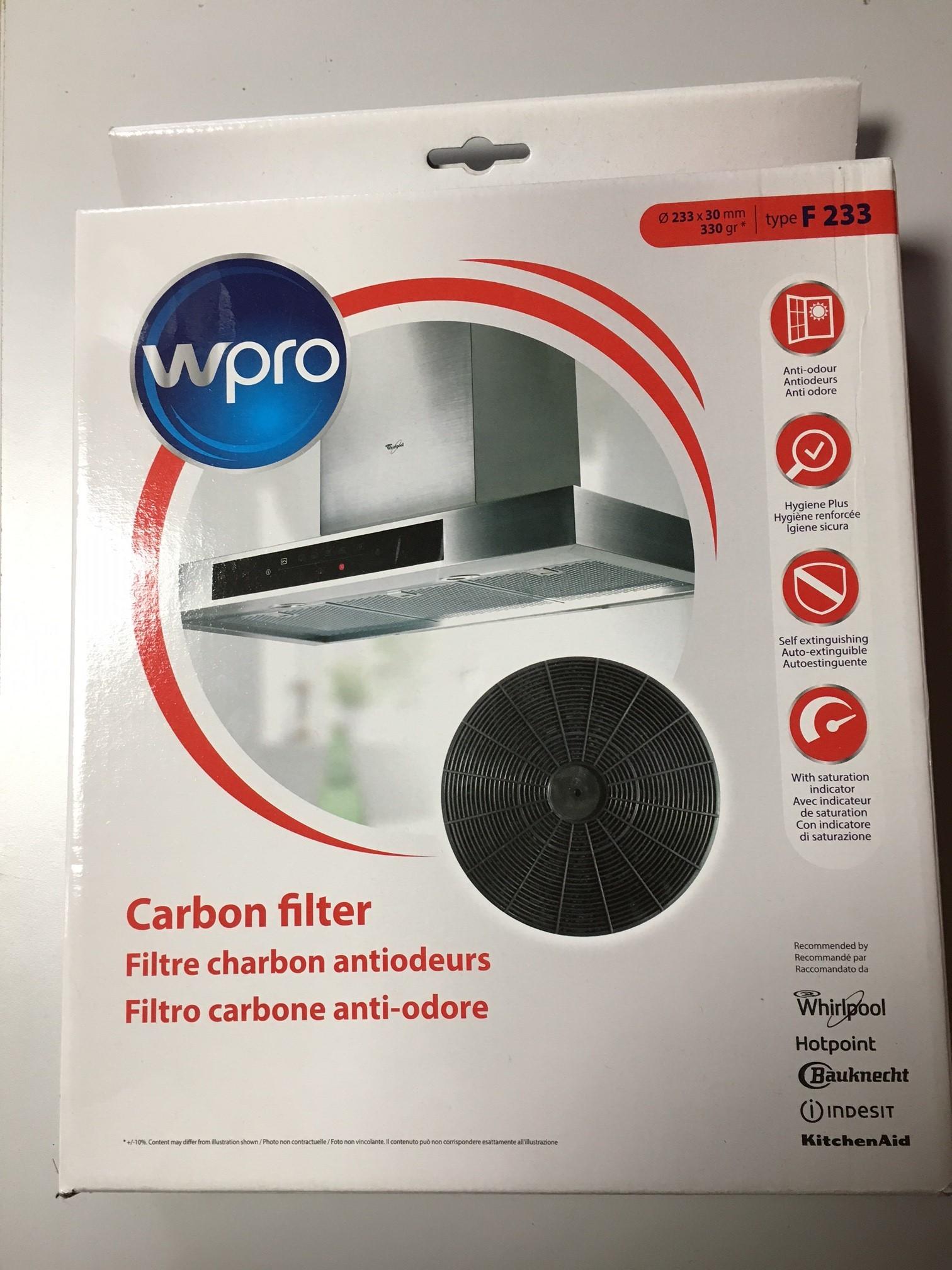 Type F233 carbone charbon hotte filtre