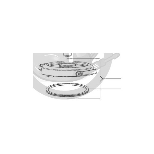 Bol Pour Companion Xl: Couvercle + Joint Bol Robot I Companion XL Moulinex MS