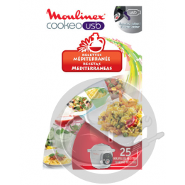 Clé USB recettes Méditerranée Cookeo Moulinex XA600011