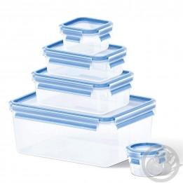 Masterseal Fresh set de 5 boîtes 0.15, 0.25, 0.55, 1 et 3.70L bleu Tefal K3029012