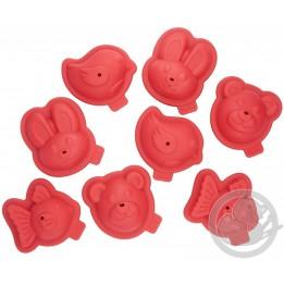 Proflex coffret framboise 8 moules animaux 3D (4 animaux) Tefal J409S814