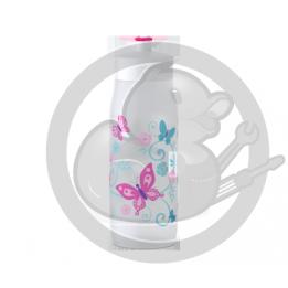 Squeeze bouteille blanc décor papillons 0.6L Tefal K3201512