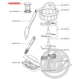 Bouchon bol robot companion XL Moulinex MS-8030000420