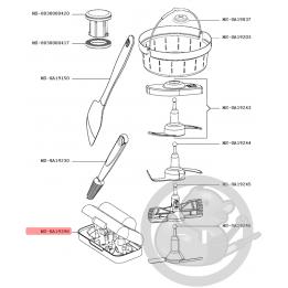 Boite rangement accessoire blanc robot companion XL Moulinex MS-0A19398