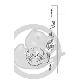 Kit résistance/moteur/corp grille friteuse Seb ACTIFRY FZ700000, SS-992134 / SS-991929