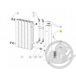 Joue droite seule + lexan th radiateur Atlantic Thermor 093159