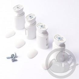 Kit fixation courts blanc satin X4 sèche serviettes Atlantic Thermor 098775