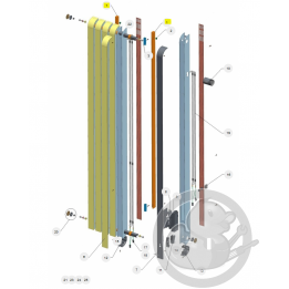 Support mural + verrous radiateur Atlantic Thermor 098504