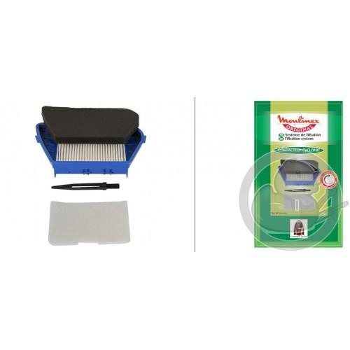 Filtre HEPA+mousse+filtre aspirateur COMPACTEO MOULINEX, MT00100, ZR004601