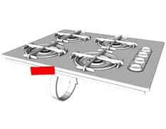 plaque signalétique table cuisson
